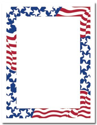 amazon com stars stripes patriotic stationery paper 80 sheets