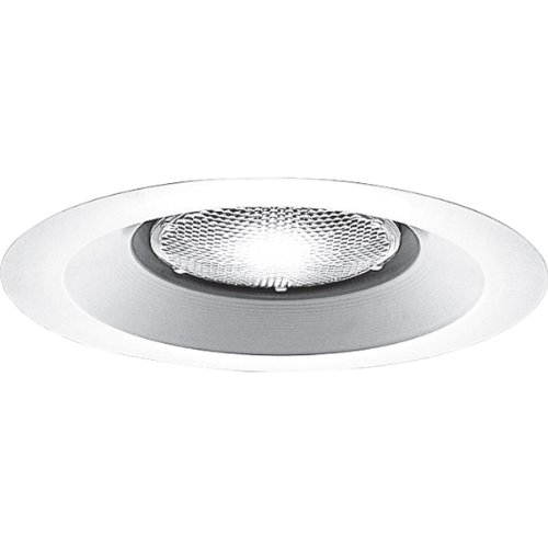 (Progress Lighting P8072WL-28 Shower Light UL/CUL Listed For Wet Locations 7-3/4-Inch O D, White)