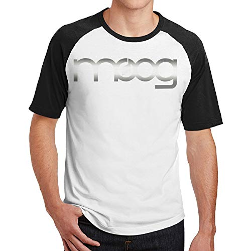 IUQWAhuiU Moog Synth Handsome Short Sleeve Baseball T-Shirts for All Men M Black
