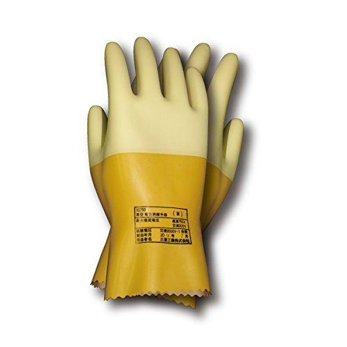 薄型電気絶縁手袋 汗取りインナー綿手袋付き