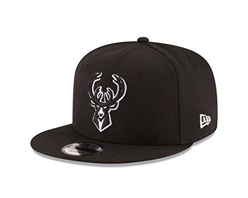New Era NBA Milwaukee Bucks Men's 9Fifty Snapback Cap, One Size, Black]()