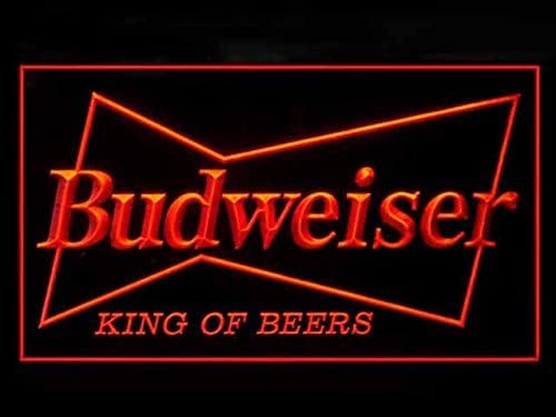 Amazon.com: Lamazo Budweiser King Beer Bar - Cartel con luz ...