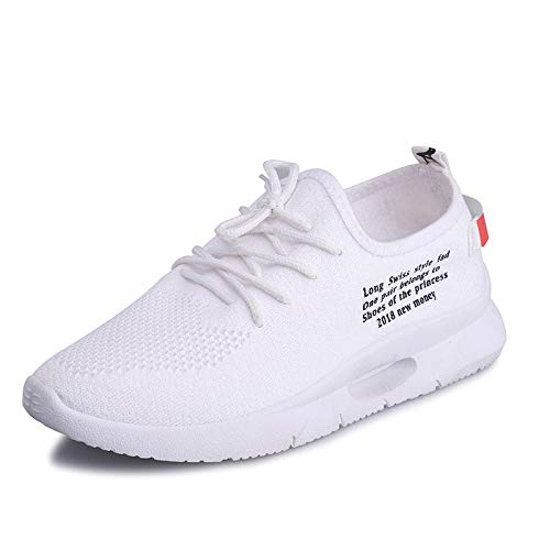Malla Sport Lace ALIKEEY Running Up Bandera Velcro Blanco Flats Zapatos Moda Caminando Novia Vidorreta Casual Sneaker Mujeres zIIw5TqBxF
