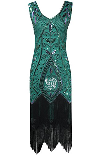 Amazon.com: BABEYOND 1920s Art Deco vestido de flapper con ...