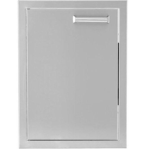 BBQGUYS Sonoma Series 14-Inch Stainless Steel Left-Hinged Single Access Door - Vertical