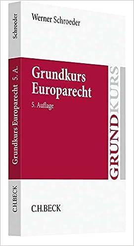 Book Grundkurs Europarecht