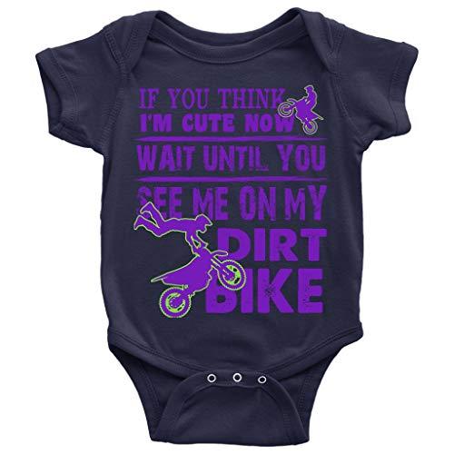 My Dirt Bike Baby Bodysuit, Wait Until You See Me Baby Bodysuit (6M, Baby Bodysuit - -