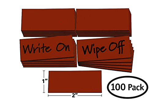 Planning Magna Board Visual - Magna Visual Damp Erase Write On Wipe Off Colored Magnet Strips 100/Pack (1