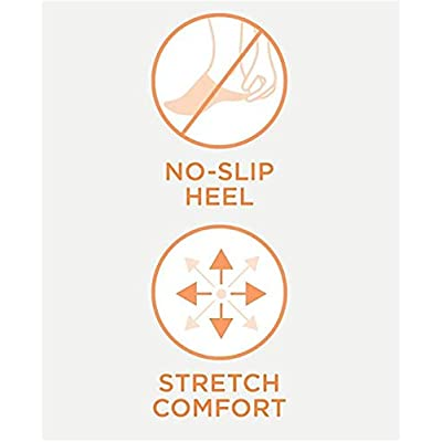 'Warner's Women's No Show Stretch Never Slip Liner Socks (3 Pack), Shoe Size: 4-10, Black' at Amazon Women's Clothing store