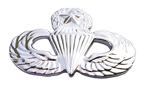 (Army Airborne Paratrooper Master Wings Military Veteran Silver Hat Pin 14805 HO)