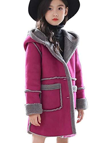 Miss Bei Kids Girls Winter Warm Fur Cartoon Coats Hooded Snowsuit Outerwear Jackets Rose ()