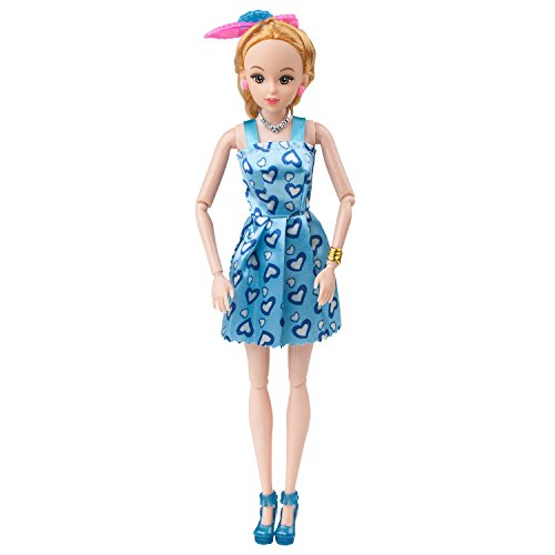 113Pcs Barbie Doll Clothes Set, 15 Pack Barbie Clothes Party Grown Outfits Dresses and 98pcs Different Doll Accessories Shoes bags Glasses Necklace Tableware for Little Girl Birthday by Giraffe US (Image #6)