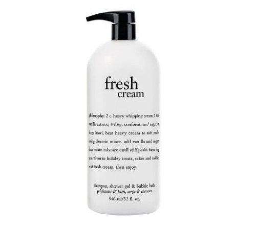 Philosophy Fresh Cream Shampoo, Shower Gel & Bubble Bath All