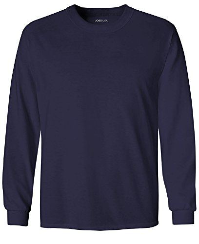 Joe's USA Youth Long Sleeve Core Cotton Tee Youth-S-Navy