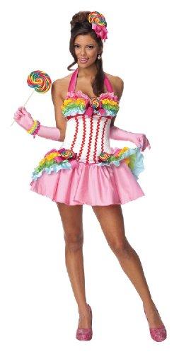 Karneval Damen Kostum Lollipop Kleid Sexy Verkleiden Fasching Gr M