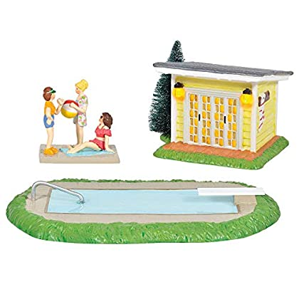 Image of Department 56 National Lampoon's Christmas Vacation Village Pool Fantasy Set 6005457 Home and Kitchen