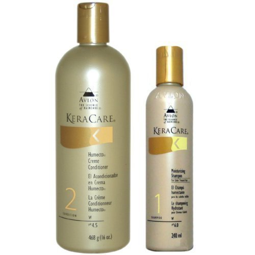 Avlon Keracare Humecto Creme Conditioner 16oz + Shampoo for Color Treated Hair 8oz