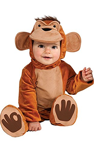 Monkey Tail Make Costume (Rubie's Costume Cuddly Jungle Funky Monkey Romper Costume, Tan, 12-18)