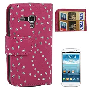 Rocina Diamond Flower - Funda cartuchera para Samsung Galaxy S3 Mini, rosa