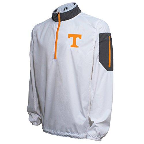 Crable NCAA Tennessee Volunteers Men's Lightweight Windbreaker Pullover, White/UT Orange, XX-Large