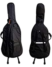 Cello Soft Case Travel Gig Bag With Multiple Pockets and Adjustable Backpack Straps | 12mm Thick Padding | Waterproof | Non-Abrasive Lining (1/8)