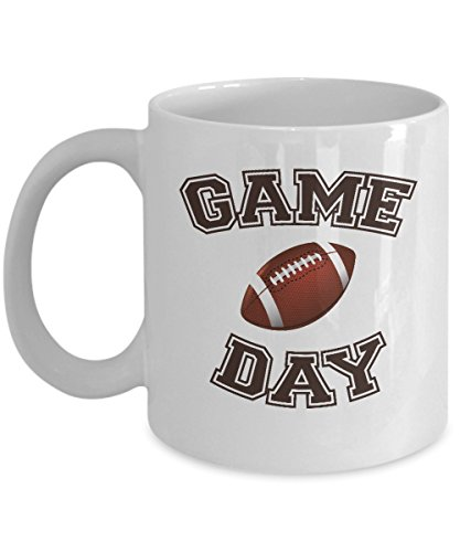Game Day Coffee & Tea Gift Mug, College Football Novelty Gifts for Mens, Mom of a Player, Coach, Fan or Lover and Team Member