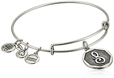 Alex and Ani Initial Expandable Wire Bangle Bracelet, 7.25""