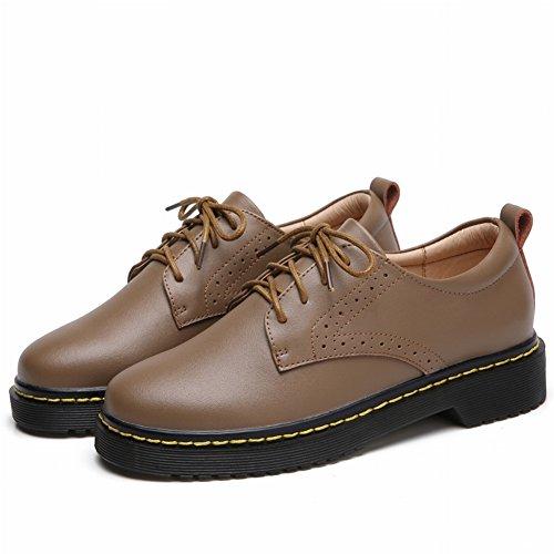 Calzado Informal de Mujer de Moda con Zapatos Gruesos Y Planos , café , EUR37