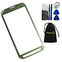 Mencia Screen Glass Lens Replacement For Samsung Galaxy S5 Active G870 G870A With Openning Tools(Green)