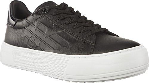 Emporio Armani EA7 Unisex Pelle Sneaker 2480058P299-00020 Unisex Halbschuhe (Black)