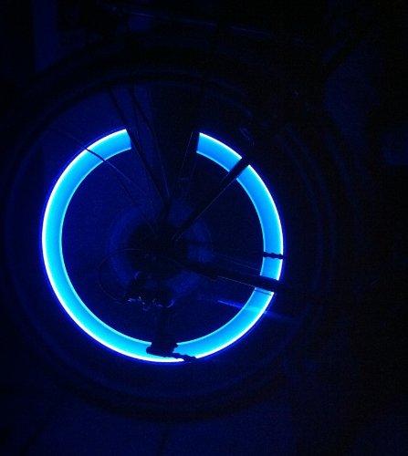 rBrothersTechnologie Lot de 2 capuchons lED pour v/élo tendance jantes et rayons avec /éclairage bleu-rBrothersTechnologie//brand