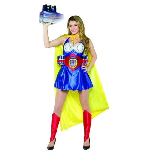 [Rasta Imposta Beer Girl Costume, Multi, Adult 6-12] (Super Beer Girl Costume)