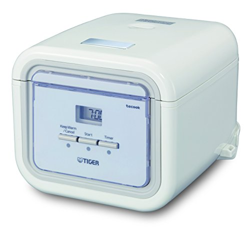 Tiger Corporation JAJ-A55U-WS 3-Cup Micom Slow Rice Cooker and Bread Maker - White (Tiger Rice Cooker Tacook compare prices)