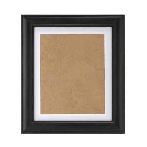 NohaRin 15x19 inch Classics American Style Wood Picture Frames Made to Display Pictures 12x16 Without Mat or 10x12 With Mat, With Wall Mounting Materials, Black