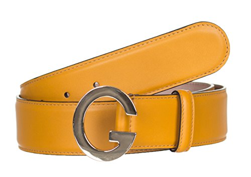 Gucci GG Orange Leather G Buckle Belt, 32, - Orange Gucci