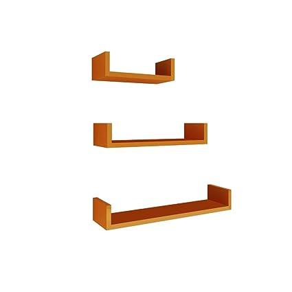 Set of 3 U Shaped Wall Shelf Children/'s Storage Shelving Decorative Display Unit