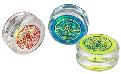 affordable Duncan Toys Pulse LED Light-Up Yo-Yo, Intermediate Level Yo-Yo with Ball Bearing Axle and LED Lights, Varying Colors