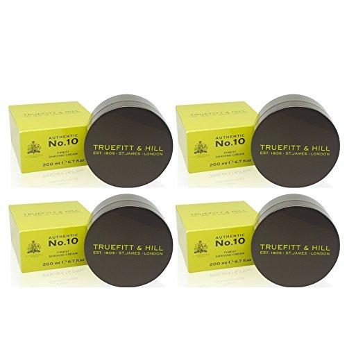 Truefitt & Hill Authentic No.10 Finest Shaving Cream, 6.7 Ounce (4 Pack) by Truefitt & Hill