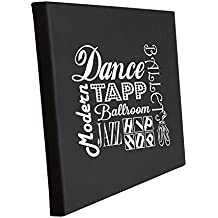 Style in Print Dance Tap, Ballroom, Jazz, Hip Hop, Modern Jute Natural Burlap Canvas Picture 11 in x 14 in