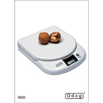 ODAG - Balanza Cocina Electr. Blanca Odag 2 Kg