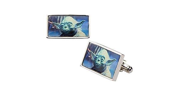 Gemelos rectangulares con diseño de Yoda de Star Wars, de acero ...