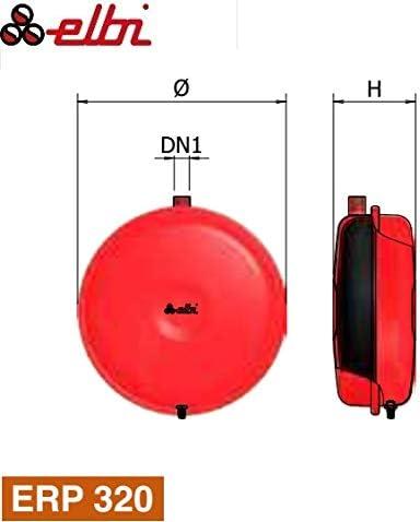Elbi 1120203Vaso de expansión para calefacción plana ERP 320/8, Rojo