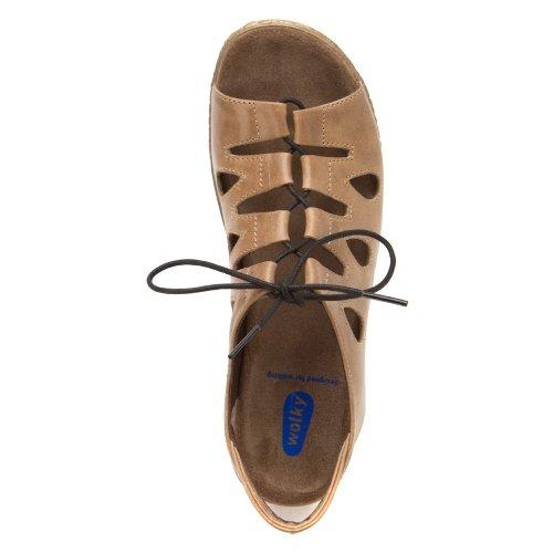 Wolky Comfort Sneakers Amalfi 130 braun metallic Leder meliert