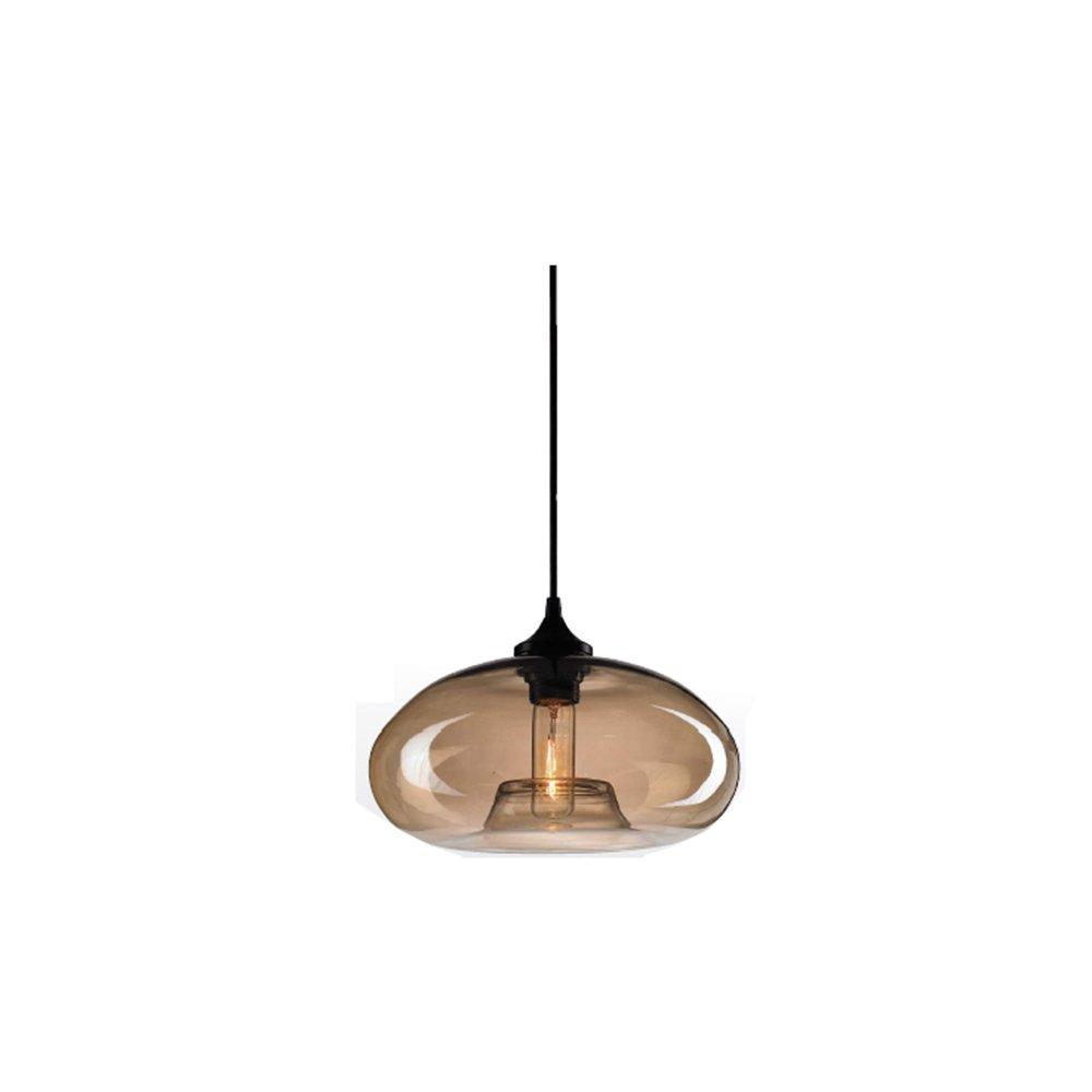 Lampada a sospensione in vetro E27 Industiral Lampada a sospensione LOFT Light (Amber, b) EasyGame