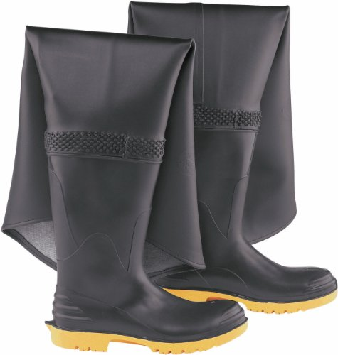 - ONGUARD 86856 PVC Men's Steel Toe and Steel Midsole Hip Wader Boots with Ultragrip Sipe Outsole, 17