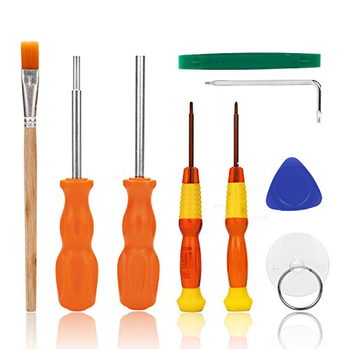Nintendo Screwdriver, AKWOX 9 in 1 Professional Repair Tool Kit With Triwing Screwdriver L Wrench, 3.8mm and 4.5mm Security Screwdriver for Nintendo Switch/New 3DS/Wii/2DS/DS Lite/GBA/Gamecube -