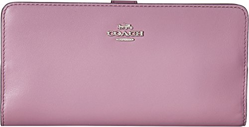 COACH Women's Smooth Leather Skinny Wallet Sv/Jasmine One ()