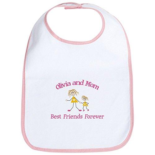CafePress - Olivia & Mom - Best Friends F Bib - Cute Cloth Baby Bib, Toddler Bib