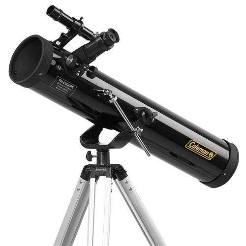 Coleman 700 x 76mm Reflector Telescope with Tripod (Black)