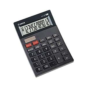 Calculadora sobremesa Canon AS-120 Negra: Amazon.es